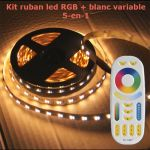 kit ruban led rgb blanc variable