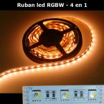 ruban led RGBW 4 en 1 blanc chaud
