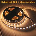 ruban led rgb blanc variable