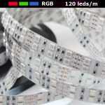 strip led RGB 120 leds au metre IP20 12V
