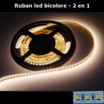 strip led bicilore 2 en 1