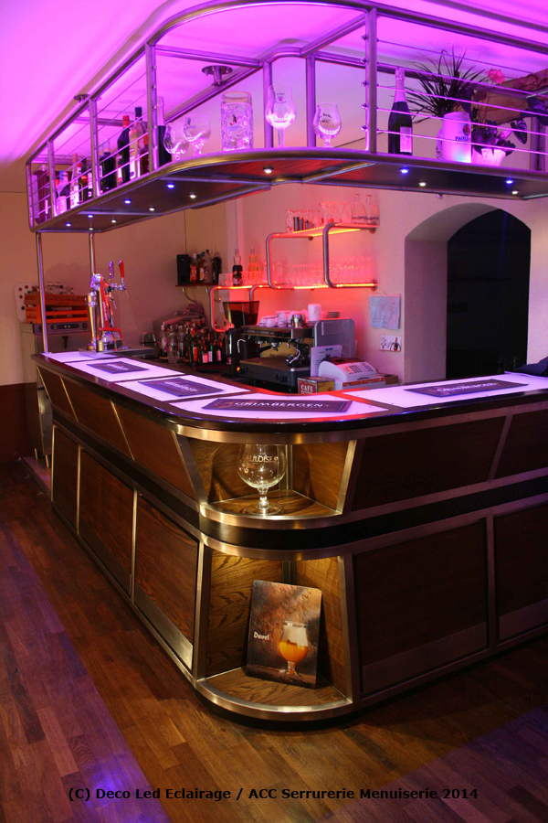 Deco led eclairage id es d co pour les bars - Decoration bar maison ...