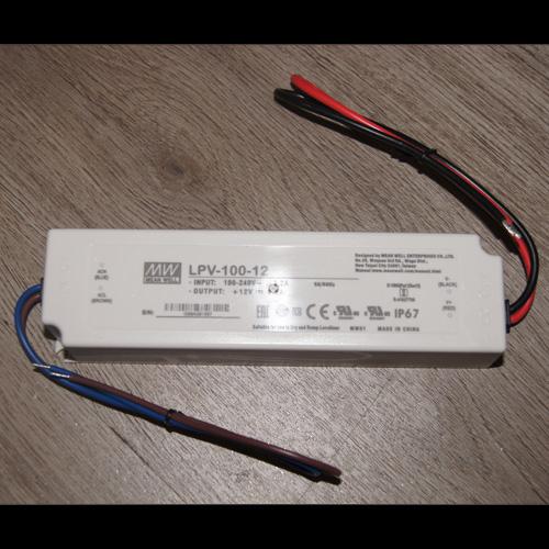 alimentation led Meanwell 12V 100W IP67 pic2