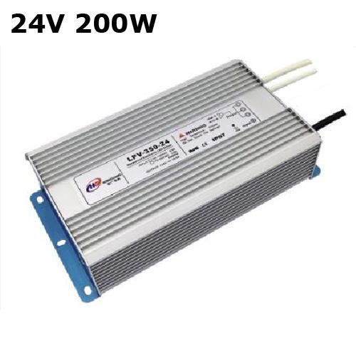alimentation led etanche IP67 24V 200W