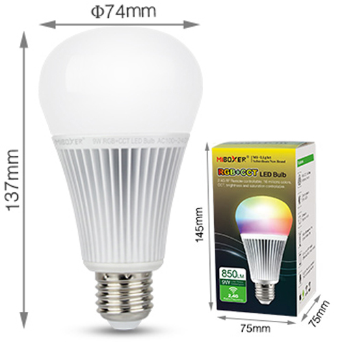 ampoule E27 RGB blanc variable 9W pic5