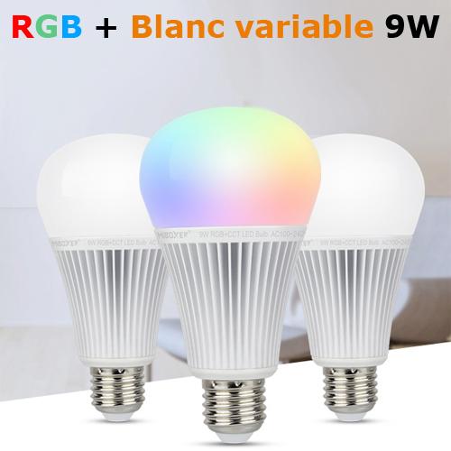 ampoule E27 RGB blanc variable 9W