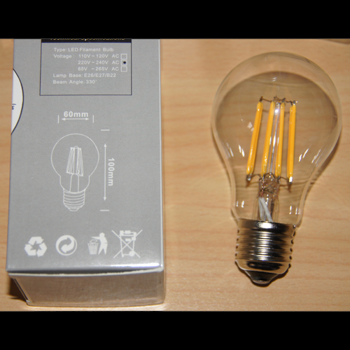 ampoule filament led style r tro e27 6w deco led eclairage. Black Bedroom Furniture Sets. Home Design Ideas