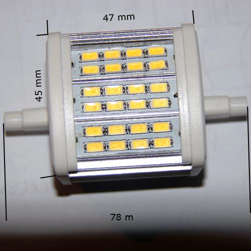 ampoule led r7s crayon smd5630 8w blanc naturel deco led eclairage. Black Bedroom Furniture Sets. Home Design Ideas