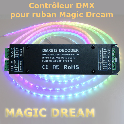 controleur SPI dmx magic dream