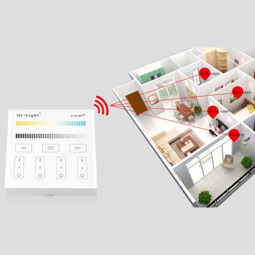 controleur led tactile mural sans fil pour rubans led bicolores pic4