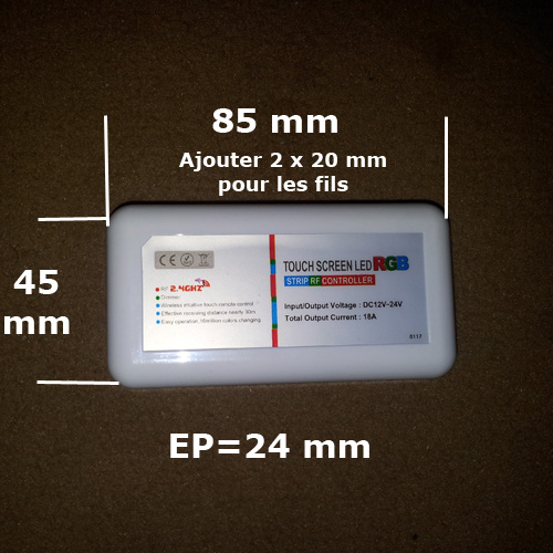 controleur tactile RF pour strip led pic5