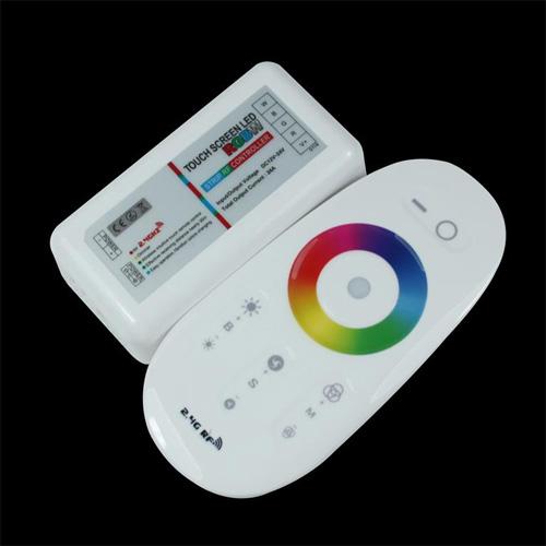 contr leur led rgbw multicolore blanc tactile 12v rf deco led eclairage. Black Bedroom Furniture Sets. Home Design Ideas