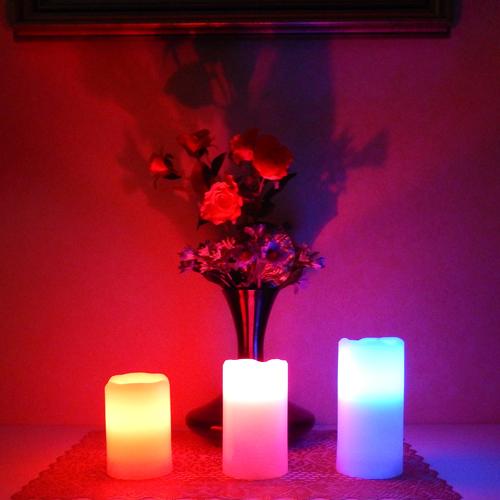 ensemble 3 bougies led RGB pic18