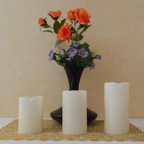 ensemble 3 bougies led RGB pic2