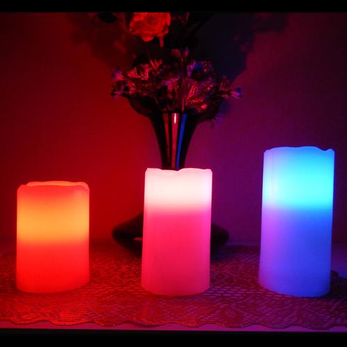 ensemble 3 bougies led RGB