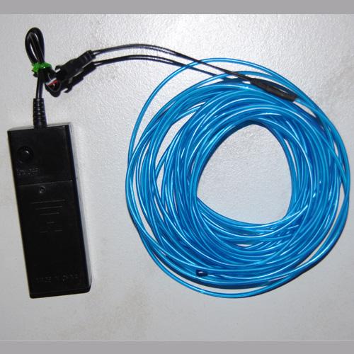 fil lumineux flexible 3 mm 10 m tres bleu contr leur sur deco led eclairage. Black Bedroom Furniture Sets. Home Design Ideas