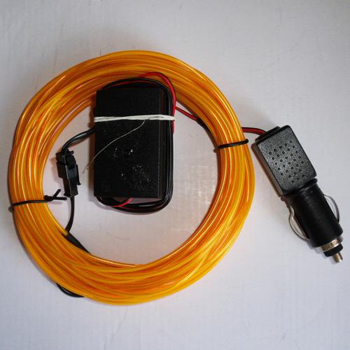 fil lumineux flexible 2 3 mm 10 m tres orange contr leur sur deco led eclairage. Black Bedroom Furniture Sets. Home Design Ideas