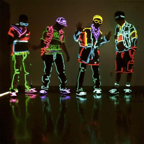 fil lumineux costumes