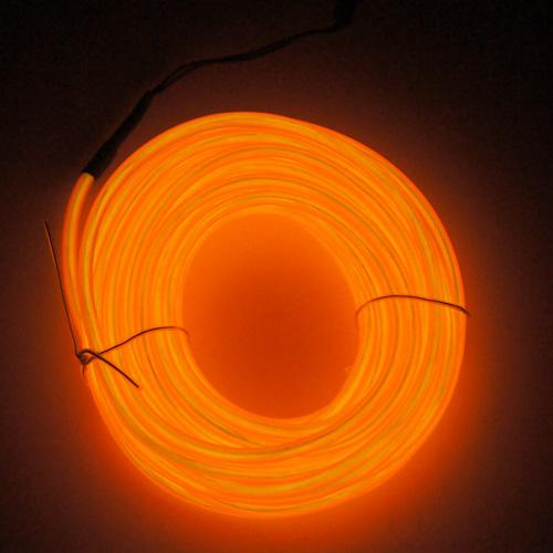 fil lumineux flexible double ligne 5 mm 3 6w 10 m tres orange contr leur sur deco led eclairage. Black Bedroom Furniture Sets. Home Design Ideas