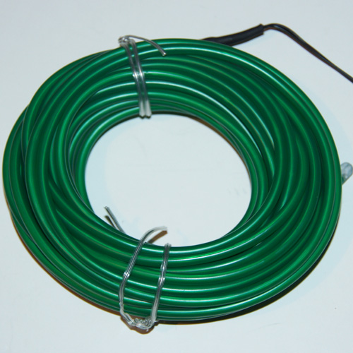 fil lumineux flexible double ligne 5 mm 3 6w 10 m tres vert contr leur sur deco led eclairage. Black Bedroom Furniture Sets. Home Design Ideas