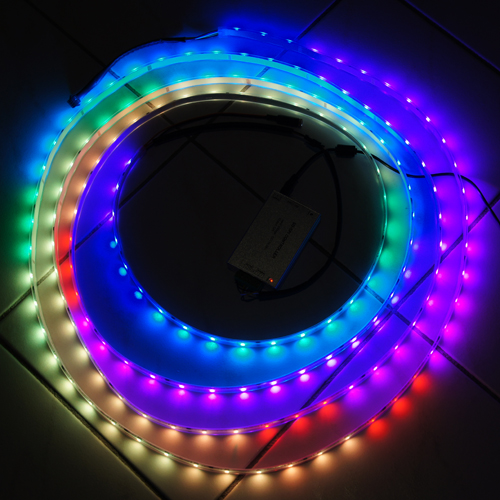 Rubans leds rgb 12v smd 5050 de type magic sur deco led for Ruban led chambre