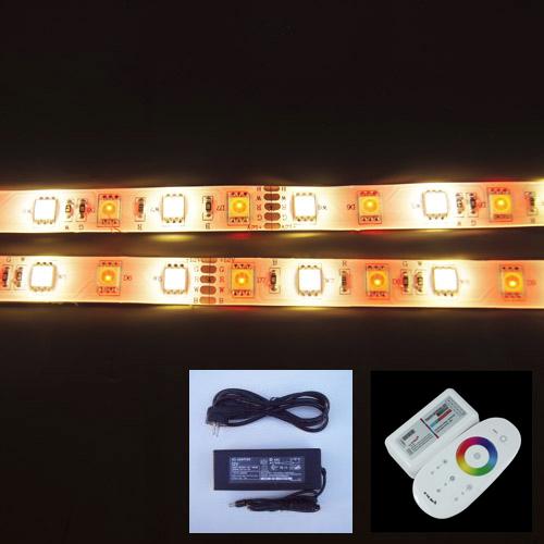 kit strip led RGB blanc chaud