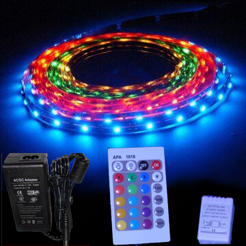 Kit ruban led 12v rgb smd 5050 30 leds m alim 4a for Ruban led chambre