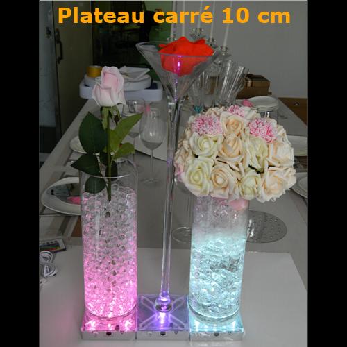 plateau led RGB carre 10cm