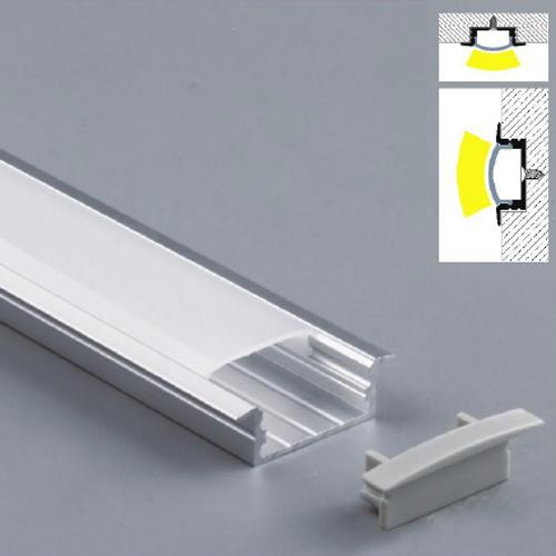 profil led encastrable complet en alu 30 3 x mm mod le prfenc2001 sur deco led eclairage. Black Bedroom Furniture Sets. Home Design Ideas