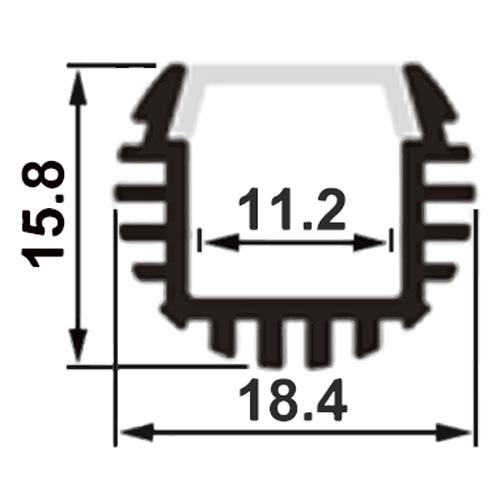 profile led escaliers PRFPW1818B pic2