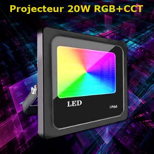 projecteur RGBCCT 20W