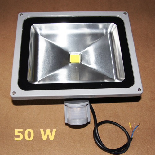 Projecteur led pour ext rieur 50w d tection de for Projecteur led exterieur 50w