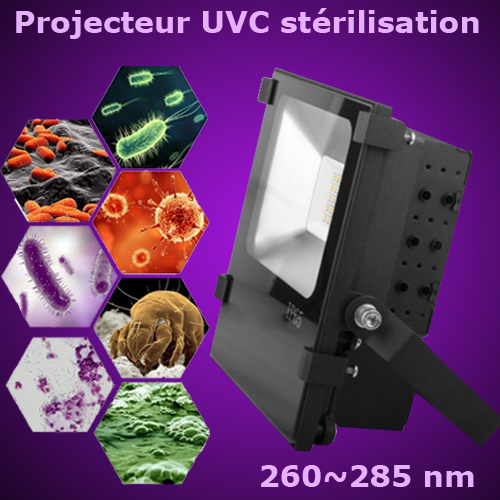 projecteur led UVC sterilisation PRJLEDUVC22