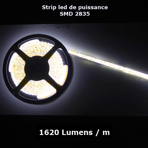 ruban led SMD2835 120 led m 12V 1800 Lumens