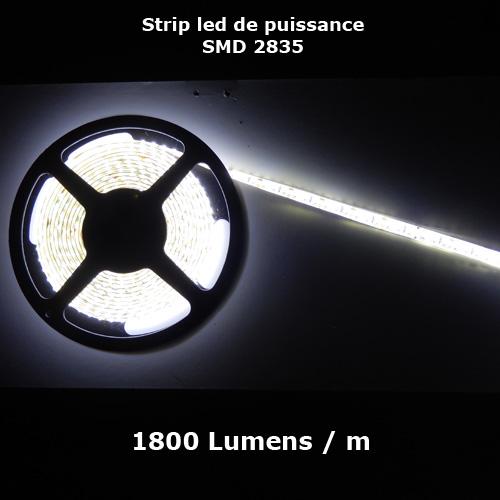ruban led SMD2835 120 led m 1800 Lumens