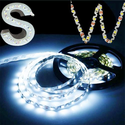 ruban led en s blanc froid 60 leds m 1120 lumens m sur deco led eclairage. Black Bedroom Furniture Sets. Home Design Ideas