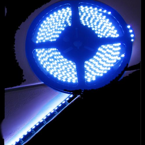 ruban led noir clairage lat ral bleu 120 leds m ip65 sur deco led eclairage. Black Bedroom Furniture Sets. Home Design Ideas