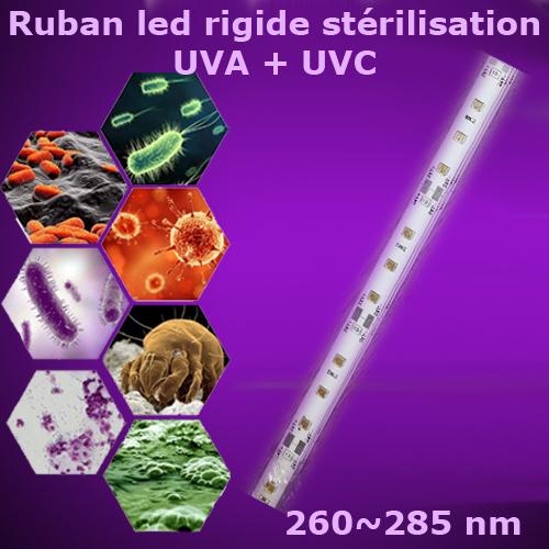 ruban led rigide sterilisation UV