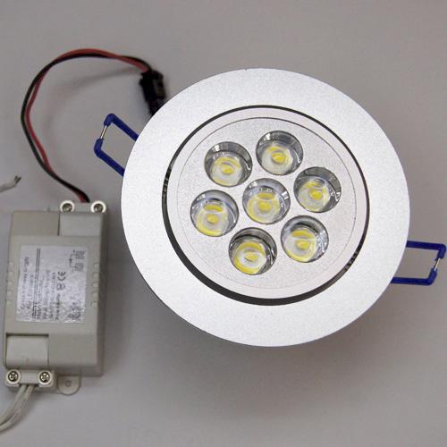 spot led 7w 600 lumens blanc chaud