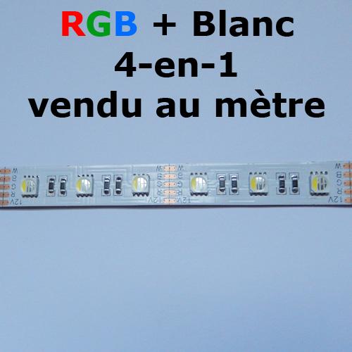 strip led RGBW 4 en 1 vendu au metre