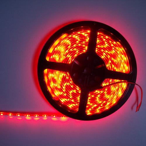 ruban led economique smd 3528 tanche 60 leds m rouge deco led eclairage. Black Bedroom Furniture Sets. Home Design Ideas