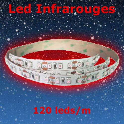 strip led infrarouge 120 led par metre