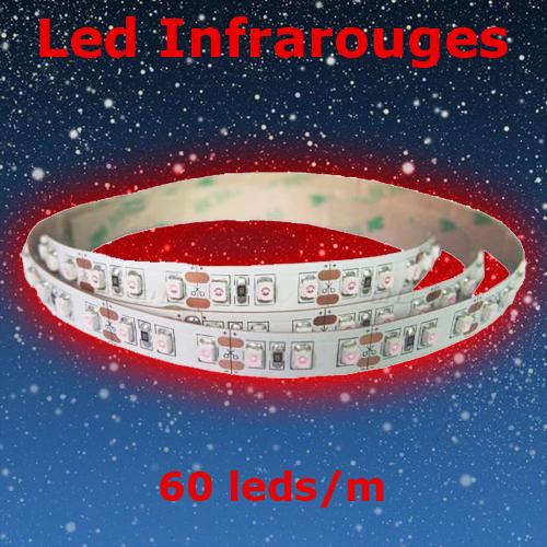 strip led infrarouge 60 led par metre 940nm