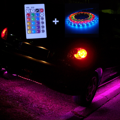 kit ruban led 12v rgb special tuning auto int rieur deco. Black Bedroom Furniture Sets. Home Design Ideas
