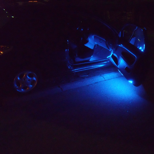 Kit strip led 12v rgb special tuning auto int rieur deco for Interieur tuning auto
